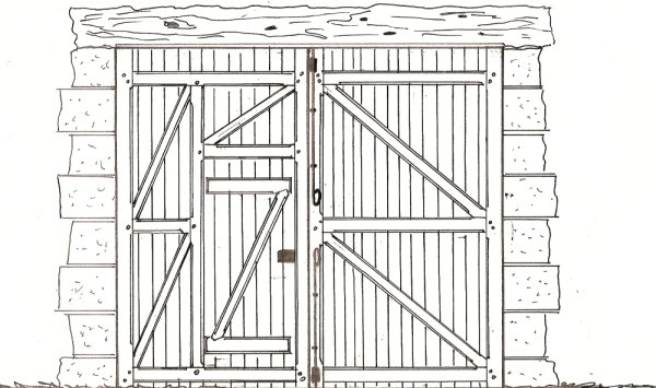 croquis porte de grange menuiserie eb nisterie teddy gandolfi. Black Bedroom Furniture Sets. Home Design Ideas