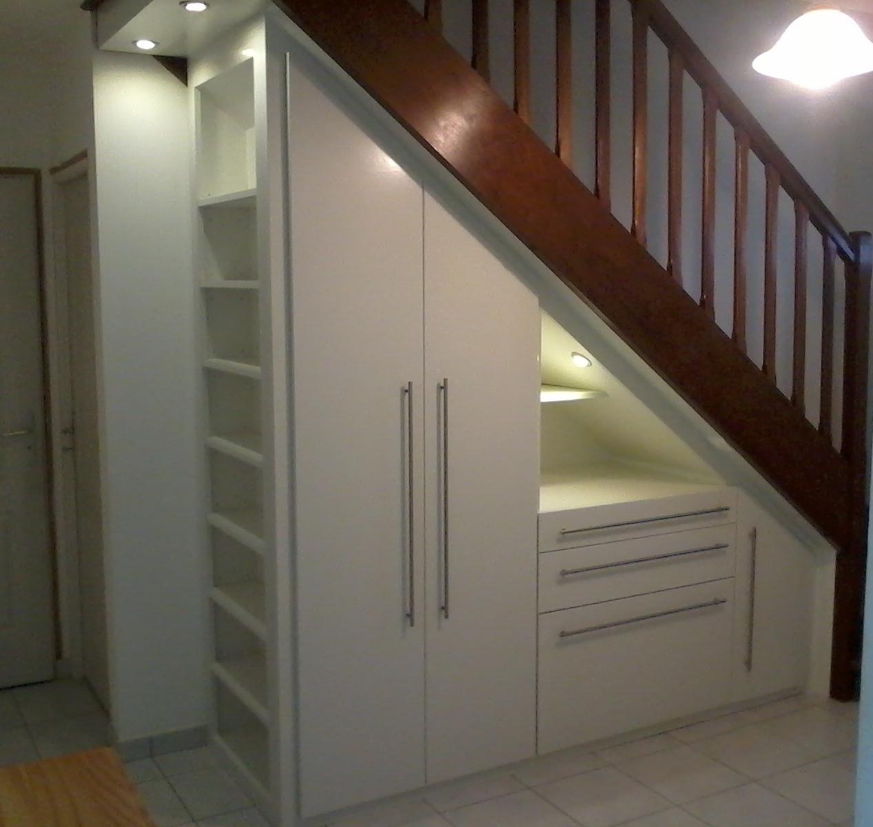 placards sous escalier dressing placards parquet. Black Bedroom Furniture Sets. Home Design Ideas